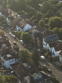 Victoria Road from the air